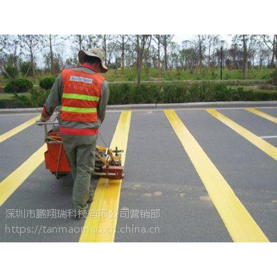 深圳道路划线公司 停车场车位划线报价 鹏翔瑞施工划线 价格公道