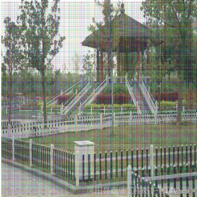 河南信阳息县优质小区塑钢护栏生产商 草坪护栏网批发 新农村菜园围栏