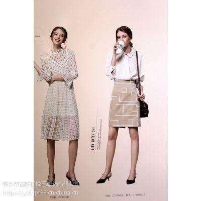 风恋妮17夏装海口春美多折扣女装连衣裙服装库存系统价格多种面料多色供选连衣裙