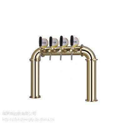 Talos塔罗斯啤酒分发设备酒吧不锈钢啤酒柱酒塔小门形4孔1046405金色