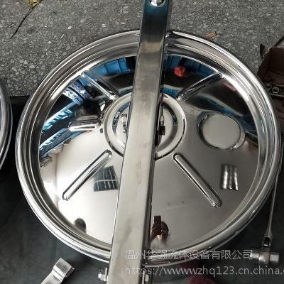 华强厂家生产 花型卫生级人孔 不锈钢人孔