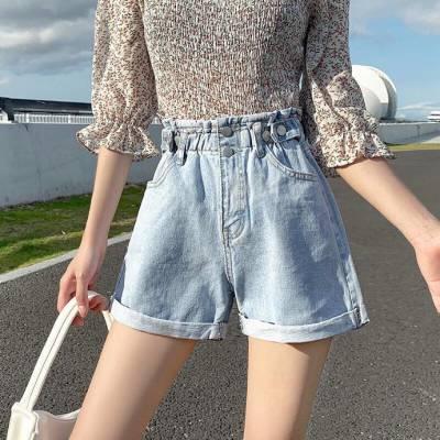 夏季新款韩版显瘦女式牛仔短裤女夏潮宽松大码胖MM破洞热裤子