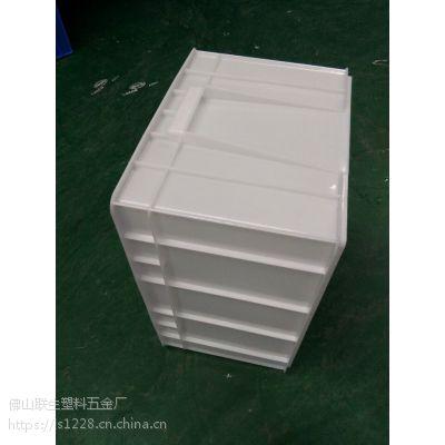联生塑胶厂家直销五金专用塑胶周转箱汽车配件箱胶筐电子零件箱