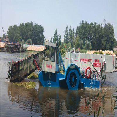 池塘保洁船,小型河道水花生清理机械,湖面水浮萍打捞设备