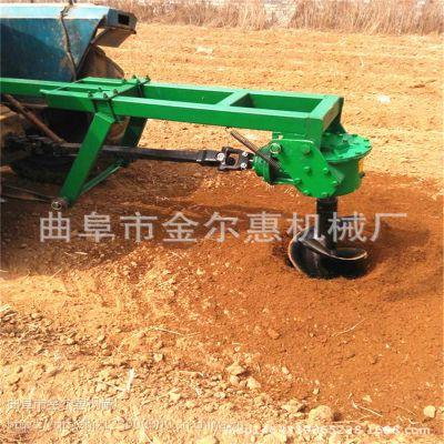 牵引式拖拉机挖坑机 方钢加工大动力钻洞机 直销四轮带动挖坑机