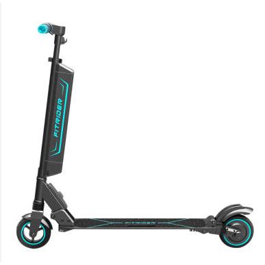 Fitrider电动滑板车F1电动折叠车6寸电机LED码表非古科技锂电车儿童成人代驾车智能代步车
