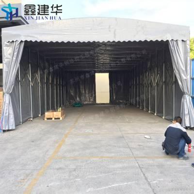 吴江区电动轨道雨棚布 门店活动遮阳蓬 折叠推拉篷厂家订做