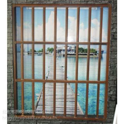 HCQ235泰安百叶空调围栏型材,锌钢空调栏杆,烤漆飘窗护栏质量可靠