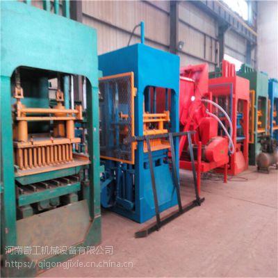 黑龙江奇工机械现货供应12-15型全自动多功能空心植草砖机 液压免烧面包砖机 一机多用 免费安装