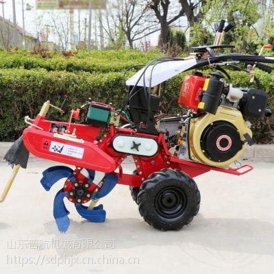 新款小型手扶开沟培土机 多功能锄草机 普航牌186型柴油田园管理机