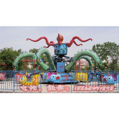 户外大型旋转类游乐设备大章鱼定制生产