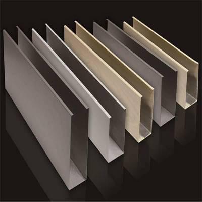 上海室内吊顶铝天花热转印木纹U型铝方通厂家 木纹U型铝方通价格