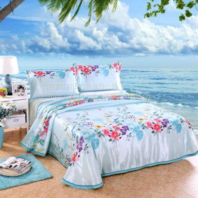 冰丝席三件套可折叠水洗凉席1.8m床单式空调软席子1.5米床裙双人
