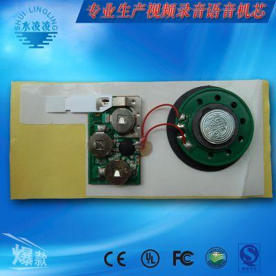 语音模块 语音方案开发 定制语音IC控制板 贺卡机芯 20秒语音机芯