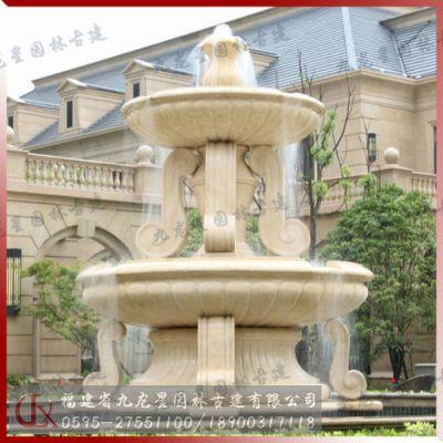 喷泉跌水景观 房地产水景雕塑福建惠安石雕厂