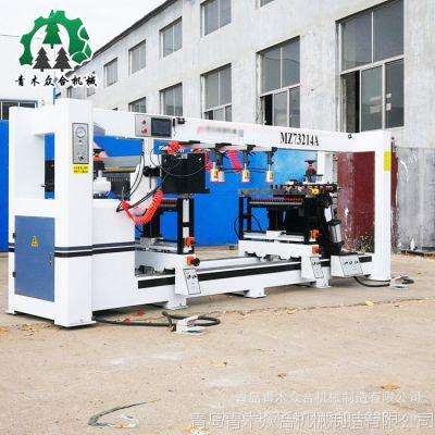 木工机械 四排多轴木工排钻 PLC工控系统 光电感应定位准木工排钻