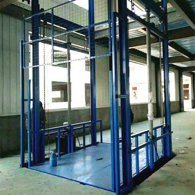 厂家直销2吨仓库货梯 导轨式液压升降平台 货物提升机