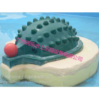 广州润乐水上乐园设备提供戏水小品、滑梯等等——刺猬喷水