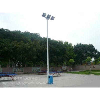 学校篮球场镀锌灯柱 6米球场灯杆一拖二灯光 赛车场路边高灯杆价格,东莞厂家安装 康腾体育