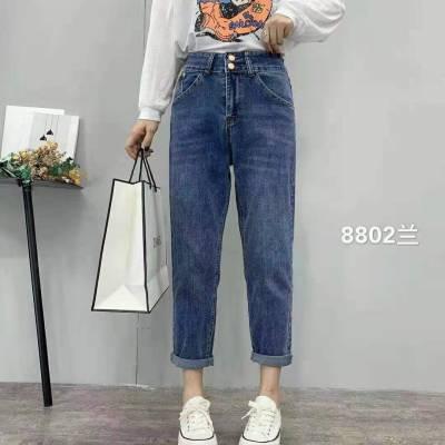 2018夏季新款女式牛仔裤 杂款尾货小脚裤批发 几元牛仔裤清仓