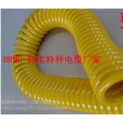 聚氨酯螺旋电缆 TPU护套螺旋电缆厂家直销
