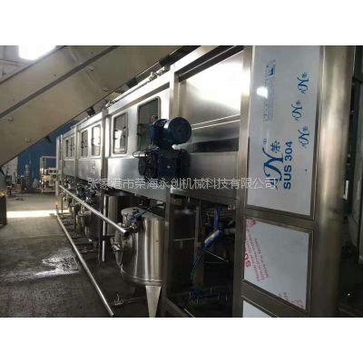 荣海永创2-5加仑桶装水矿泉水大小桶通用全自动生产设备桶装水生产线符合***新国家要求
