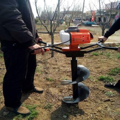 新疆杨树种植挖坑机价格 拖拉机后悬挂植树钻坑机 启航牌汽油打眼机