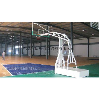 2米长1米宽平箱篮球架 户外可移动球架 标准成人比赛篮球架 加固型康腾体育厂家