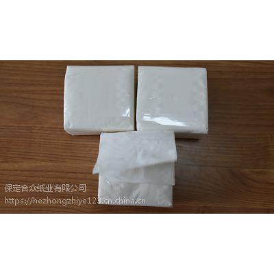 供应饭店餐馆用小方包抽纸 2层150抽 18*10cm规格 原生木浆餐巾纸