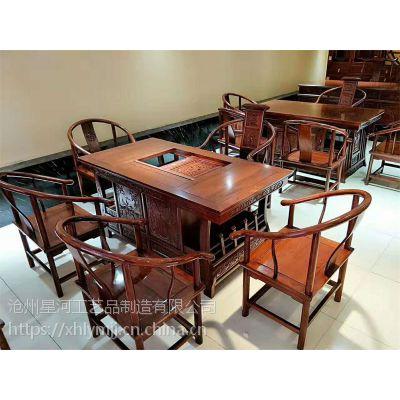 河间古典中式老榆木茶桌批发厂家