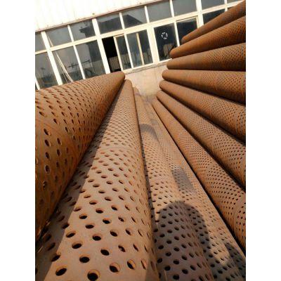 深圳DN800*8大口径圆孔管、基坑降水井用滤水管、透水量大、圆孔密度大