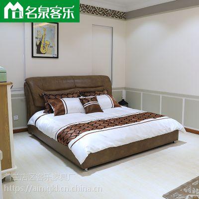 软床F103-5简约现代大连软包家具工厂直销