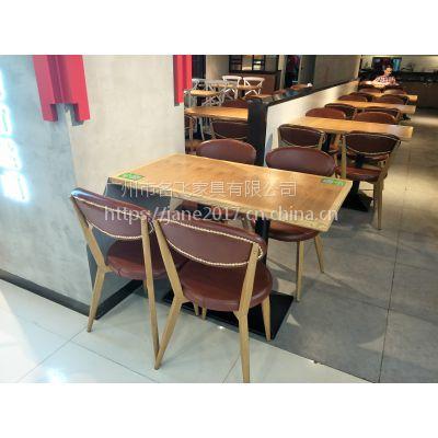 西安市快餐桌椅,简约现代甜品店奶茶店桌椅组合