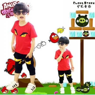 几元童装短袖批发厂家 韩版棉童装T恤货源 小孩服装批发