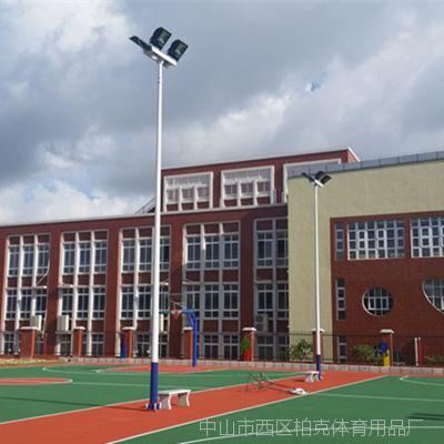 清远学校一拖一6米球场灯杆 小区热镀锌照明路灯 灯杆厂家直销