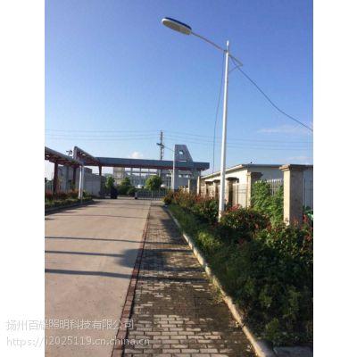 江苏南通临江镇 城镇道路LED 5米20瓦太阳能路灯工程案例