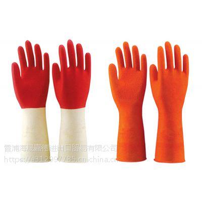 台湾;康乃馨双色手套家用手套现货