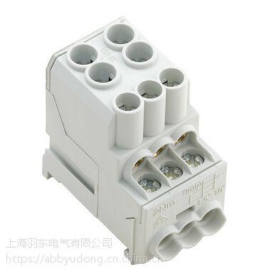 压线框接线技术WPD 100 2X25/6X10 GY分线端子库存供应