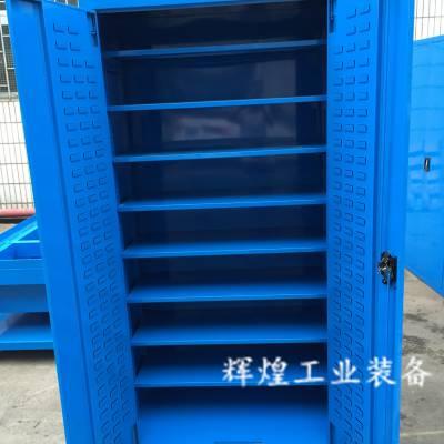 深圳 辉煌HH-229 加厚材料工具箱铁皮柜 带门五金安全柜移动