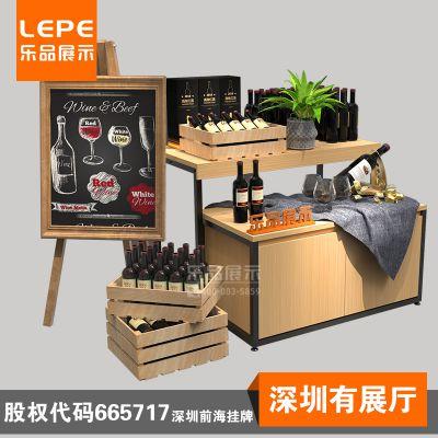 乐品超市零食促销架 红酒展示台 生鲜水果促销台 服装展示货架