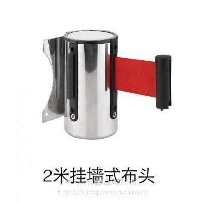 2米挂墙式布头 上海一米线厂家五冠制品供应挂墙式一米线隔离栏配件 采用热处理伸缩系统 可定制
