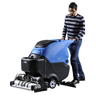 无锡机械厂用手推式洗扫一体机丨容恩进口配置洗地扫地机免费试机