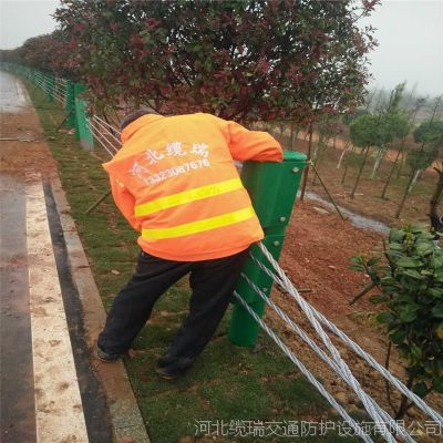 河北缆瑞钢丝绳护栏,景区钢丝绳护栏生产厂家