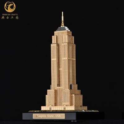 迪拜哈利法塔模型,旅游纪念品,水晶镶金楼模,建筑物模型工艺品定制