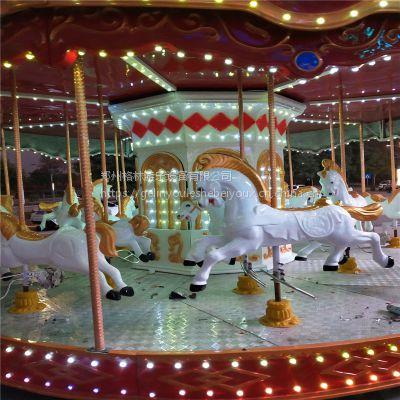 河南郑州旋转木马厂家格林游乐设备