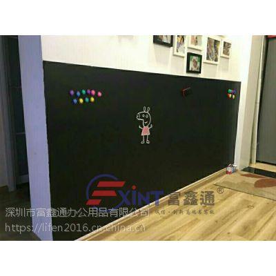 从化实木黑板餐厅E花都彩色招财猫小黑板D荧光粉笔双用黑板