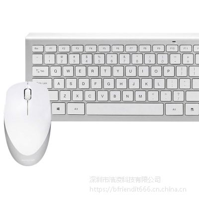 B.FRIENDit壁虎忍者RF460超薄静音无线键盘 巧克力无线键鼠套装