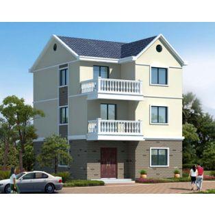 吉安别墅设计AT1777三层简洁实用农村自建房屋设计全套施工图纸7.7mX10.8m
