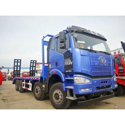 解放J6前四后八挖机拖车价格大型挖机运输车马力是多少