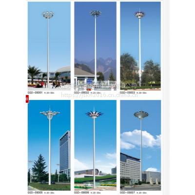 山南户外高杆灯 阿坝小区广场高杆灯升降式 科尼星方形镂空景观灯